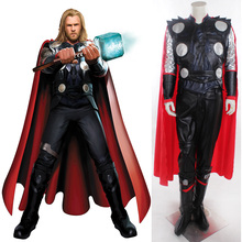 Free DHL New arrival The Avengers 2 Age of Ultron carnival thor costume adult men cosplay coat jacket Jumpsuits cloak set