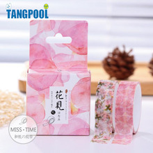 2pcs/box Floral Pattern 15mm*10m Washi Tape DIY Decoration Scrapbooking Masking Tape Korean Stationery School Supplies Papelaria