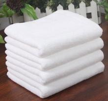 freeshipping (2Pcs/lot )75*35cm 120g/pcs Good Quality 100% Cotton Towel Face Care Towel Hotel Hand Towels White Color(China)