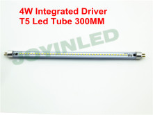 Triac PWM dimmable led tube t5 300mm 4W 220 230V no ballast/starter commercial office tube White replace of Fluorescent lighting