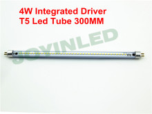 Triac PWM dimmable led tube t5 300mm 4W 220 230V no ballast/starter commercial office tube White replace of Fluorescent lighting(China)