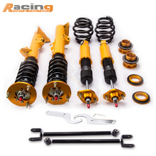Full Adj. Coilovers for BMW E36 M3 3 Series 316 318 320 323 325 328 92-97 Coil Spring Over Strut Shock Camber Arm Control arms(China)
