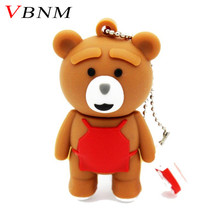 VBNM cute bear model pendrive 4GB 8GB 16GB 32GB usb flash drive U disk memory stick USB 2.0 U disk lovely gift