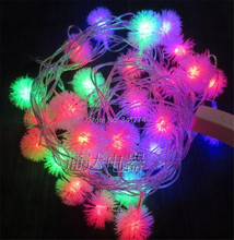 New 5 m 20 Leds Snow Ball LED Holiday Lighting String Christmas Lights Garland Chandelier for New Year Garden Outdoor Decoration