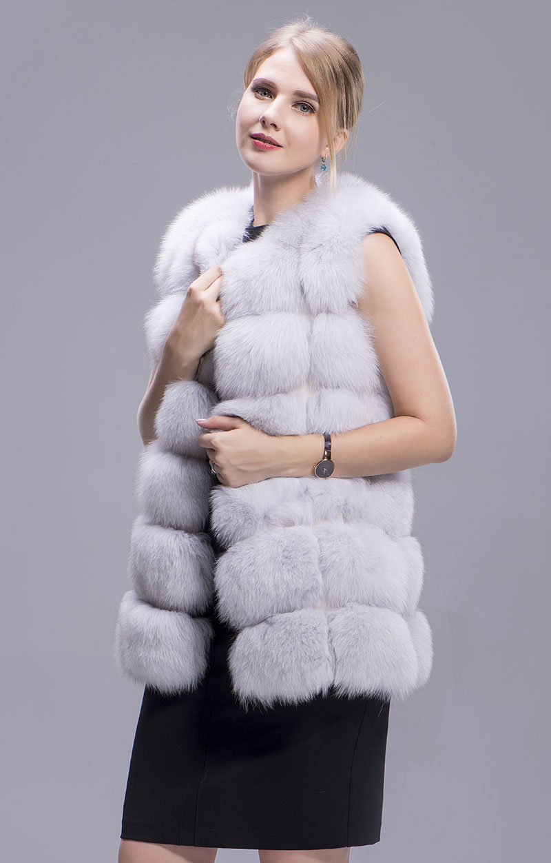 fox fur vest 70cm blue fox 2 1