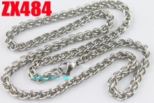 Buy 5mm foxtail chains stainless steel necklace hyperbolic chain male woman's fashion jewelry 20pcs ZX484 for $38.00 in AliExpress store