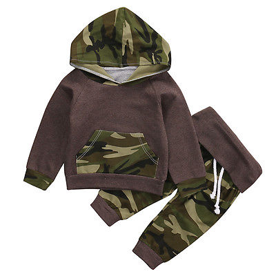 Camouflage Kids Baby Winter Christmas Clothes Set Newborn Baby Boys Girls Warm Outfits shirt Hoodie Top + Pant Leggings 2pcs<br><br>Aliexpress