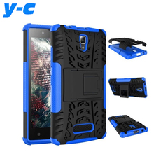 For Lenovo A2010 Case New Back Case Mix Color TPU&PC Plastic Dual Armor case with Stand For Lenovo A 2010