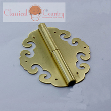 8CM (3.15'') Brass Hinges For Chinese Furniture Wooden Door Trunk Cabinet Suitcase Furniture Hardware 2pcs(China)