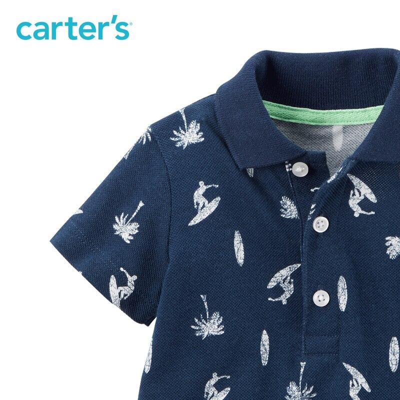 1 pcs manches Courtes coton beau surf impression Polo Barboteuse de Carter bébé Garçon D'été Printemps combinaisons vêtements 118H023 13
