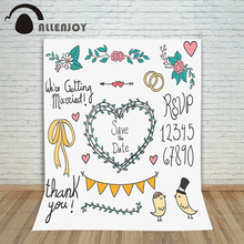 Allenjoy photography white backdrop Lovely wedding custom information Valentines love flowers hearts photography backgrounds