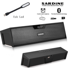 Sardine HIFI Black portable wireless bluetooth Speaker, Stereo soundbar FM Aux radio subwoofer column for computer mp3 player