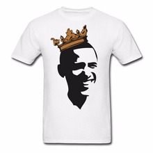 High Quality Men'S T-Shirt Short Sleeve Obama With Crown Men'S T-Shirtt Shirt Manufacturers
