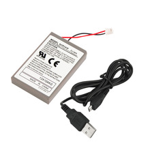 Professional 2000mAh Rechargeable Battery Extended Power Replacement For PS4 Controller With Cable Hot Sale in stock!!!