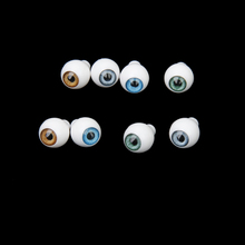 4 Pairs Round Acrylic Doll Eyes Eyeballs 8mm Multicolor Eye Activities Moving Eyeball Plastic Eyes Scrapbook Doll Accessories(China)
