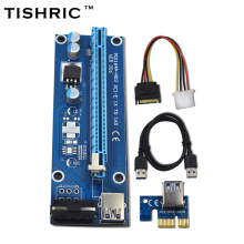 10pcs Tishric Ver006 60cm Usb 3.0 Pci-e Extender Pci Express Riser Card 1x To 16x Sata To 4pin Ide Power For Btc Miner Machine