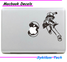 Ash Ketchum Pokemon Cartoon Sticker for Apple Macbook Skin Air 11 13 Pro 13 15 17 Retina Laptop Wall Auto Vinyl Decal