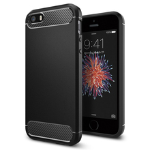 100% Original Korea Made Rugged Armor Carbon Fiber Textured Protective Case for iPhone SE/5s/5