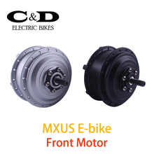 36V 48V 350W High Speed Brushless Gear Hub Motor E-bike Motor Front Wheel Drive MXUS Brand
