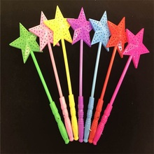 5PC Stars Finger Brigh LED Light-up Stick Party decorations Flashing Fiber Optic Lights Kid's Night Toys Gift Christmas gift(China)