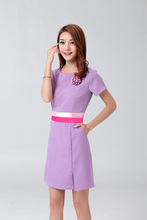 Free Shipping New Design Solid Hospital Nurse Uniform for Women Nurse Angle Medical Scrubbing Nurse Work Wears(China)