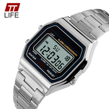 TTLIFE Digital Watch Men LED Display 30M Water Resistant Gold Auto Date Alarm Sports Fashion Wrist Watches Men Relogio Masculino
