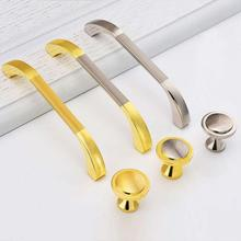 New 1pc Zinc alloy Morden family Cabinet Lockers Closet Drawer Handles Pulls Hardware Single hole/64mm/96mm/128mm/160mm