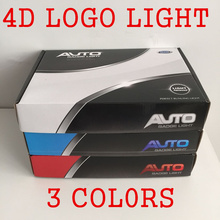 4D Led WHITE RED BLUE Car styling Parking Logo REAR Badge Emblem LED Sticker light for SUBARU/FORD/NISSAN/HYUNDAI/BMW