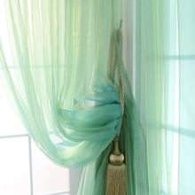 Rustic solid color curtain window screening balcony piaochuang heterochrosis shalian finished product s235(China)