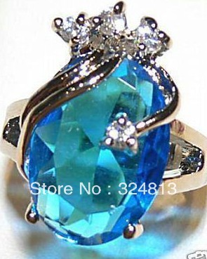 Hot Girls Shop beautiful sky blue crystal woman's #1989(China)