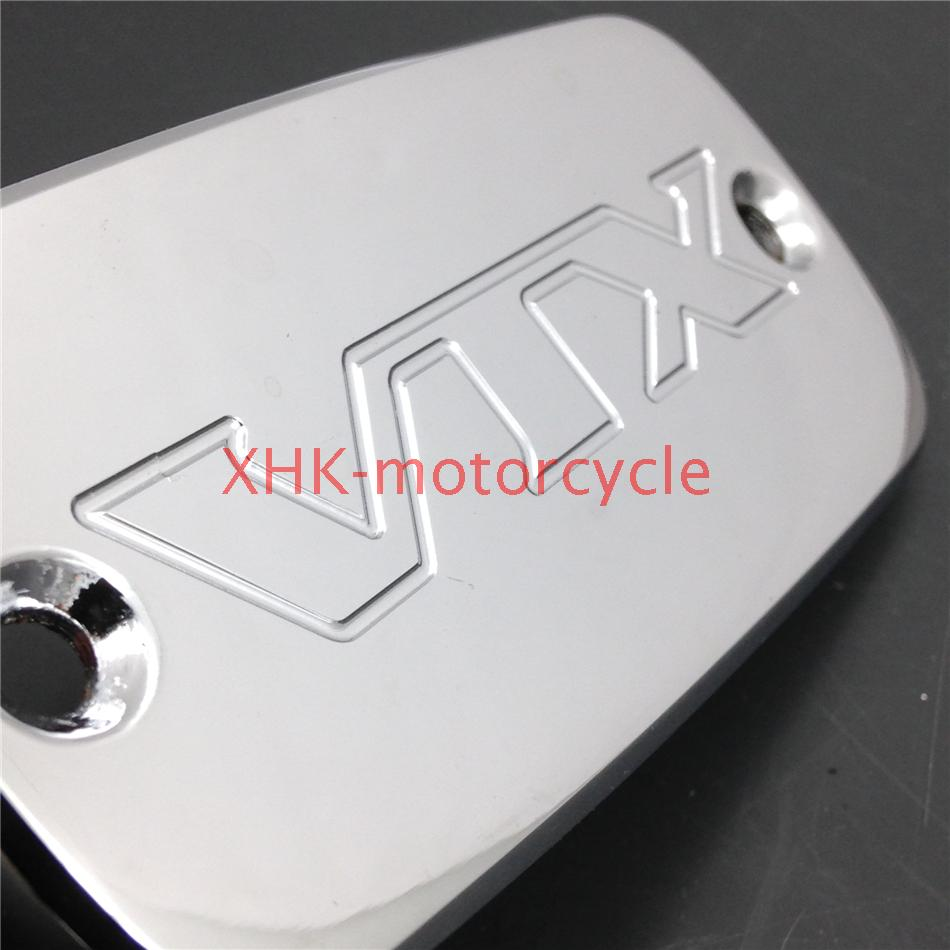 chrome Billet Brake Oil Fluid Reservoir Cap for 2002-2011 Hond VTX 1800 VTX1800<br><br>Aliexpress