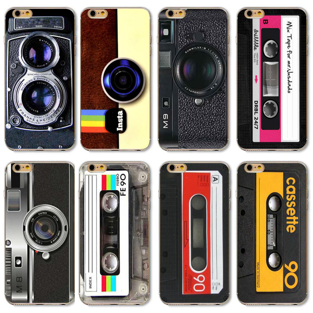 Phone cases For Apple iphone 5 5s SE Fashion Styles Rigid Vintage Colorful Camera Designs Painted Soft Sillicon TPU Back Cover(China)