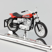 1:18 Scale kids Harley 1972 XR750 Racing Bike Diecast model motorcycle toys motorbike auto cars vintage style for children boys(China)