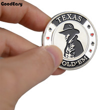Buy Hot Poker Commemorative Coin Poker Cards Guard Protector Metal Token Coin Texas Hold'em Poker Chip Dealer Button Silver COWBOY for $5.72 in AliExpress store