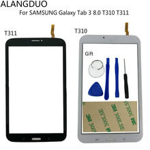 ALANGDUO New For SAMSUNG Galaxy Tab 3 8.0 T310 T311 3G/WiFi Version Touchscreen Digitizer Glass Sensor Lens Panel Replacement