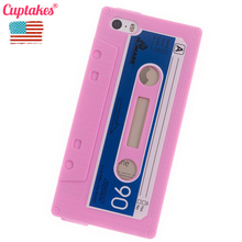 Phone Cases for iPhone 5 5S case Vintage Tape Cover Soft Silicon Cassette Fashionable Coque mobile phone bags & cases Brand(China)