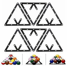 Mayitr High Quality 6Pcs Triangle Magic Ball Rack Holder Positioning Billiard Table Pool Cue Accessory Black