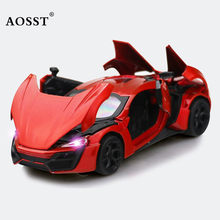 3D Alloy Car Model 1/32 Super Sport Car Excellent Die Cast Car Alloy Acousto Optic Sports Auto car styling Boy toy gift