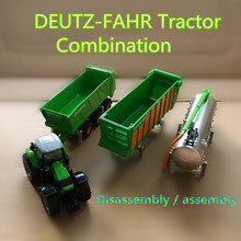 SIKU/1:87 Diecast Model/Simulation toy:DEUTZ-FAHR Tractor Farm combination/for children's gifts or for collections/very small