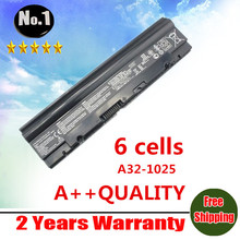 Wholesale   New 6 cells Laptop battery For asus Eee PC 1225  1025 1025c 1025ce A31-1025 A32-1025  Free shipping