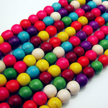 4/6/8mm 100/70/50pcs/lot Cheap Beads Random Color Scattered Bead Stone Beads for Bracelets Necklace Jewelry Findings wholesale(China)
