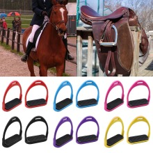 "1Pair Safety Colorful 4.72"" Stirrup Horse Riding Equestrian Lightweight Aluminum Stirrups #280732(China)"