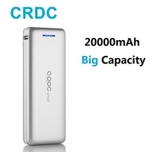 Buy CRDC Slim Power Bank 20000mah Dual USB 18650 External Battery iPhone X Xiaomi mi Portable Phone Charger Universal Poverbank for $15.71 in AliExpress store