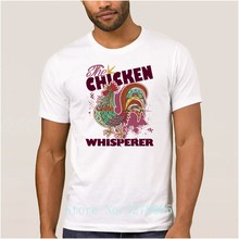 Create Your Own Brand La Maxpa Letter The Chicken Whisperer T Shirts Men Summer T-Shirt Men Adult Size S-3xl Tee Shirt Men(China)