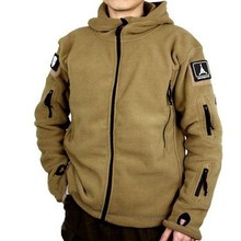 US Military Man Fleece Tactical Jacket Casual Polartec Thermal Breathable Motion Polar Hooded Coat Outerwear Army Clothes