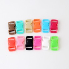20Pcs Plastic Contoured Side Release Buckles Clasps For Paracord Bracelet Backpacks Clothes Bags Decor 29x15mm 12 Colors F1121(China)