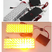 12V 2X48 2*48 96 LED Strobe Flash Warning EMS Car Light Flashing Firemen Yellow White Blue Amber Red(China)