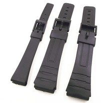 1PCS 14mm 18mm 20mm black color resin watch band watch straps man and woman wrist watch straps for casio bands -0145RWS