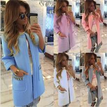 Speed through ebay burst paragraph autumn and winter women 's coat long  candy color coat