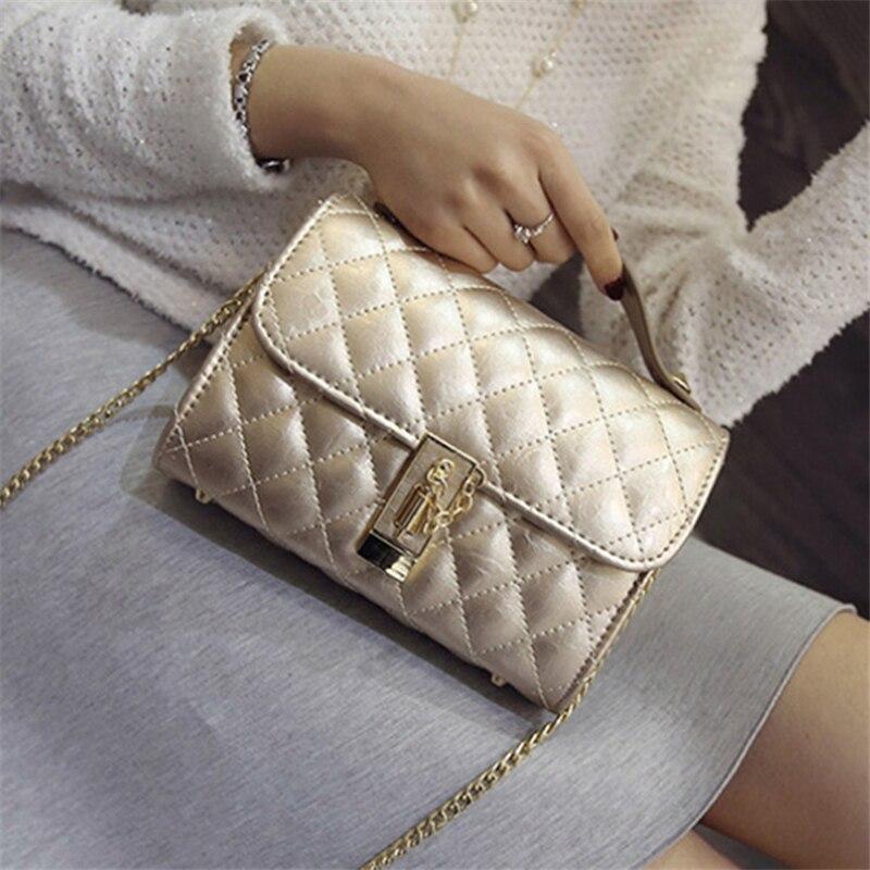 Women Messenger Bags 2017 New Casual Chains Crossbody Bags Diamond Lattice Shoulder Bag Famous Brand Women Leather Handbag<br><br>Aliexpress